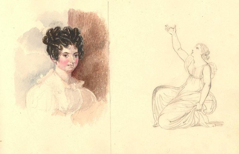 Harriet Cheney (1771-1848) - Georgian Album of Landscapes and Classical Studies For Sale 4