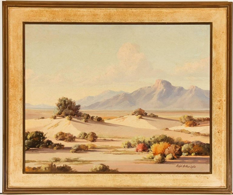 Ralph Arthur Lytle - Signed 20th Century American Modern Oil, Desert in Spring - Painting by Ralph Arthur Lytle