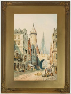 C.J. Keats RBA - Signed Late 19th Century English Watercolour, Antwerp Street