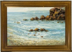 Harry Palson - Large Signed Mid 20th Century Oil, Cornish Seascape
