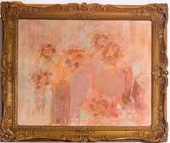 Manner of Mary Potter - Mid 20th Century Framed Oil, Floral Still Life