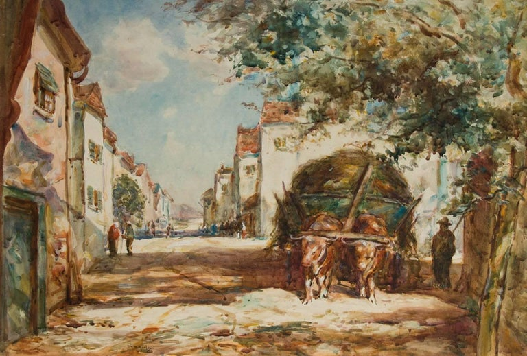 Thomas William Morley (1859-1925) - Early 20th Century Watercolour, Street Scene - Art by Thomas William Morley