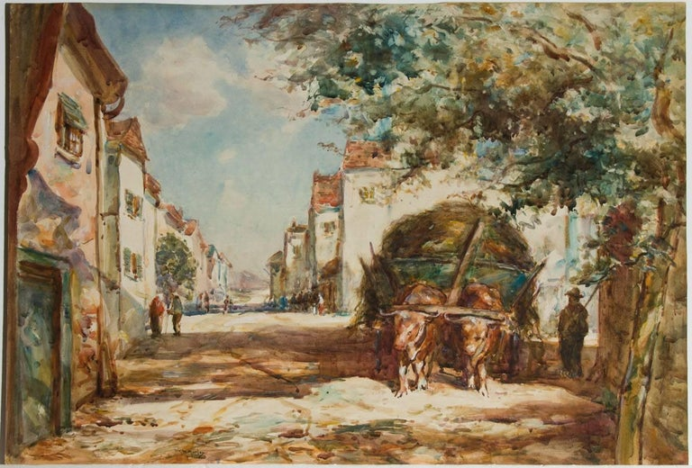 Thomas William Morley (1859-1925) - Early 20th Century Watercolour, Street Scene - Victorian Art by Thomas William Morley