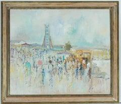 Hugh Pakenham Mahon - Signed 1943 Modern British Framed Oil, A Scene at a Fair