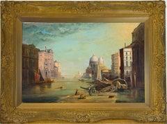 J. Charles Hiscock - 1979 Gilt Framed Oil, Grand Canal, Venice