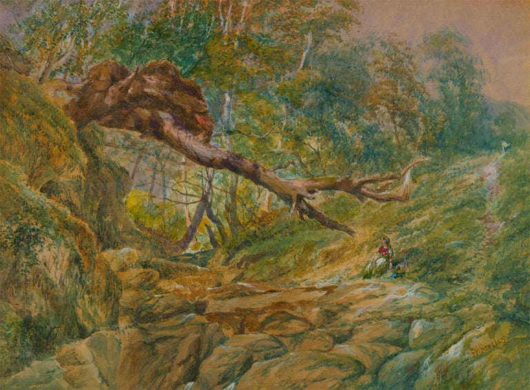 Frederick Henry Henshaw - Signed 19th Century Watercolour, Rural Landscape - Victorian Art by Frederick Henry Henshaw