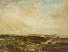 Oliver Hall RA RE RWS - 1927 RA Exhibited English Oil, Winfrith Common, Dorset
