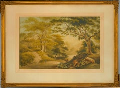 Attrib. to William Glover - 19th Century Watercolour, Deer in Epping Forest