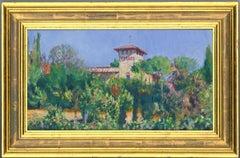White - Exhibited & Signed 1999 English Oil, Tuscan Landscape