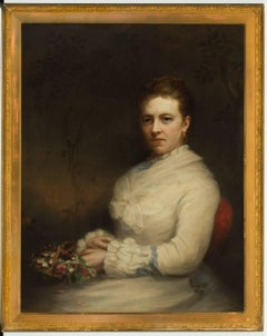 John Horsburgh (1835-1924) - Signed 1877 English Oil, Portrait of a Lady