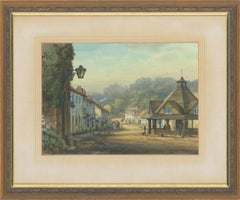 Stephen Thompson - circa 1978, A Pair of Watercolours, Views at Dunster, Exmoor