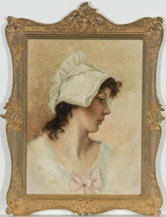 Gilt Framed Late 19th Century Oil - Portrait of a Young Woman