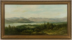 W.W. Gill - Signed 19th Century English Oil, Panoramic Lakeland Landscape