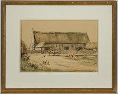 Harry Morley RWS - Signed 1920 Welsh Watercolour, Tithe Barn, Wrexham