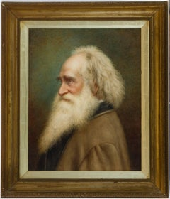 F. Volck - 19th Century Framed German Watercolour, Portrait of a Bearded Man