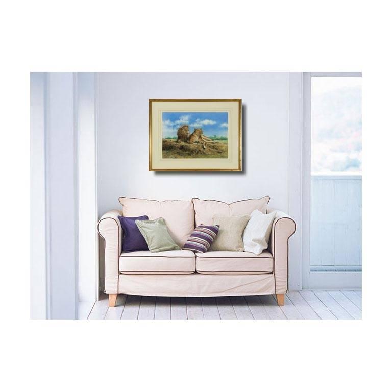 John Seerey-Lester (b.1945) - Signed & Framed British 1979 Pastel, Lions For Sale 2