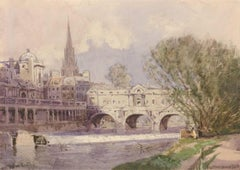 William Tatton Winter RBA - Signed English Watercolour, Pultney Bridge, Bath