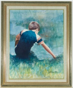 Nicholas St John Rosse (b.1945) - Signed Contemporary Portrait of a Young Boy