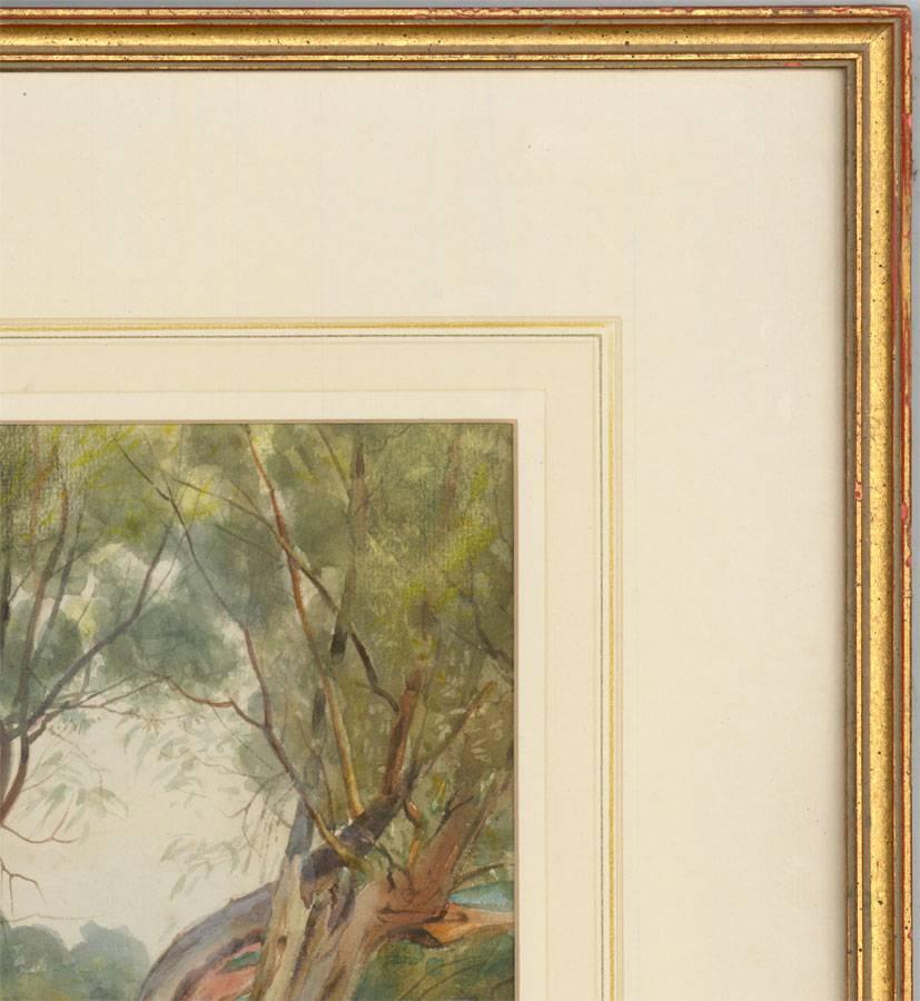 Joseph Poole Addey - Signed 1911 English Watercolour, Man with Falcon