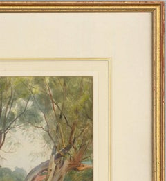 Joseph Poole Addey - Signed 1911 English Watercolour, Man with Falcon