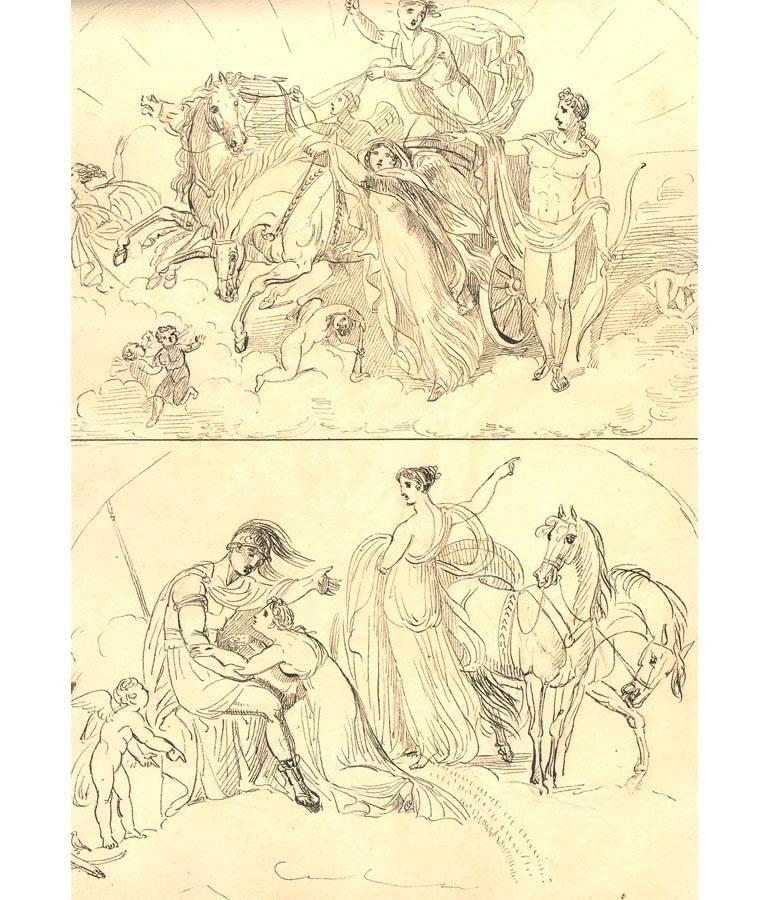 Harriet Cheney (1771-1848) - Georgian Album of Landscapes and Classical Studies For Sale 7
