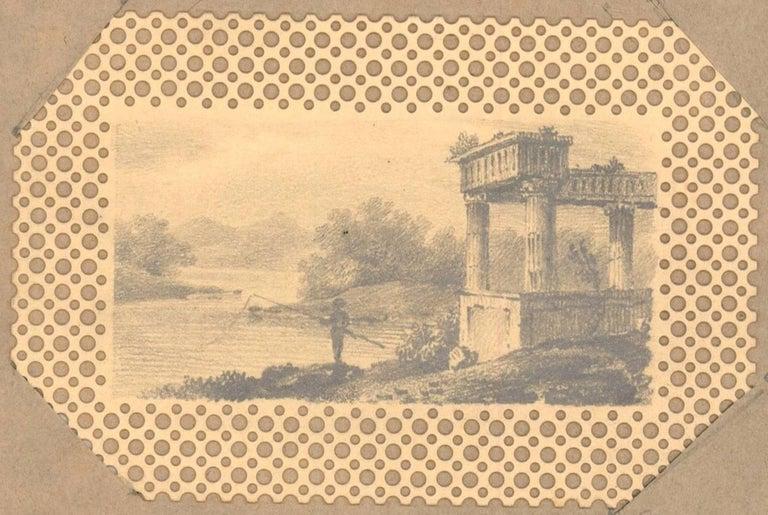 Maria Colsen - circa 1824 Georgian English Album, Views of Hastings - Beige Landscape Art by Maria Colsen
