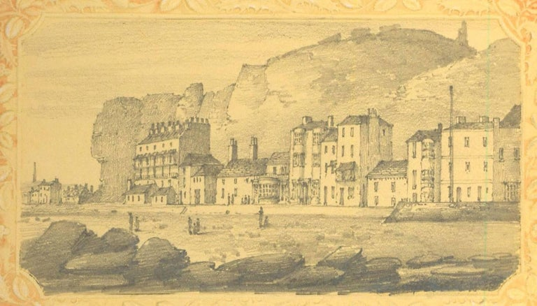 A very fine album of approximately 78 graphite drawings and approximately 3 watercolours mainly of Hastings, but also including Warwick Castle, Basingstoke, North Wales and other English locations. Drawings are inserted at corners to pages with