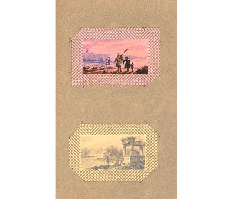 Maria Colsen - circa 1824 Georgian English Album, Views of Hastings For Sale 7