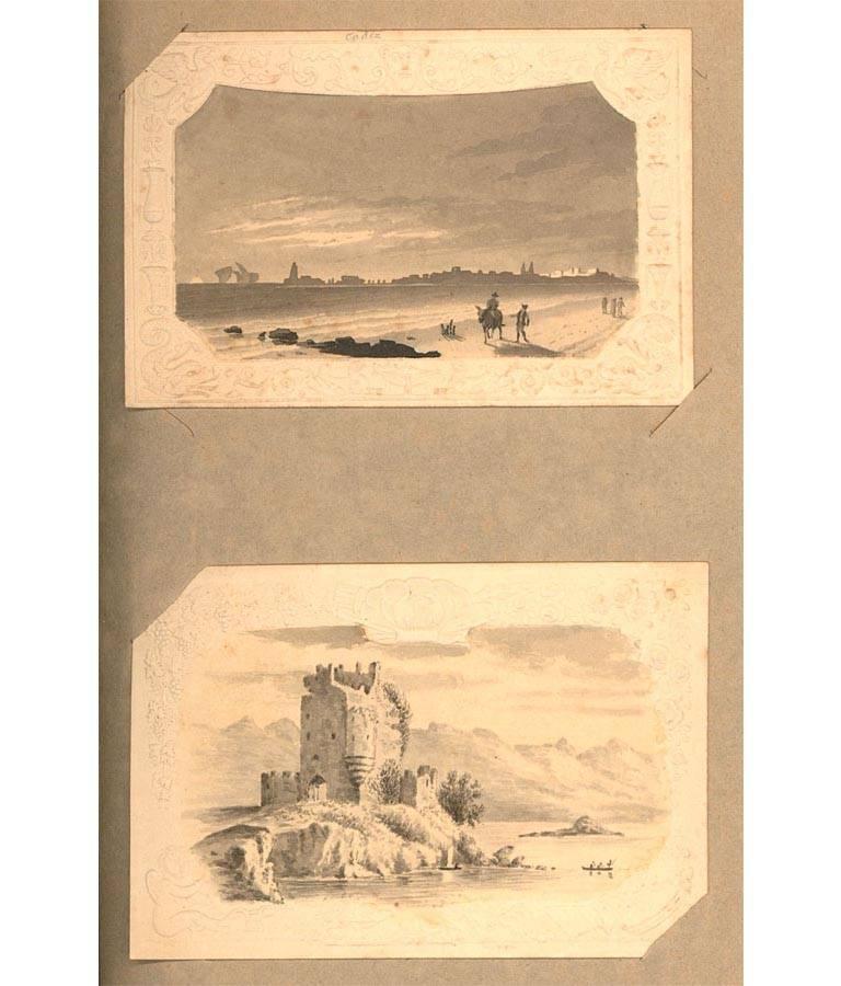 Maria Colsen - circa 1824 Georgian English Album, Views of Hastings For Sale 9