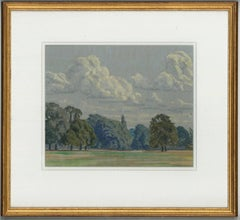 William Henry Innes - Signed, Exhibited 20th Century Pastel, View of Woodlands