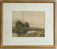 G.V. Sheriff - Signed 19th Century Welsh Watercolour, Sheep at Capel Cureg