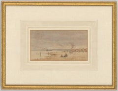 Patty Townsend-Johnson - Signed 19th Century English Watercolour, Beach Scene