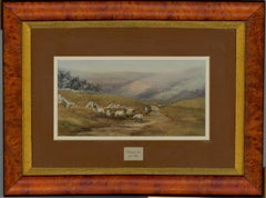 Jean Elliot - Signed and Framed English 20th Century Watercolour, Mountain Trek