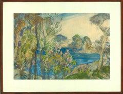 Gerald Edward Moira (1867-1959) - English Watercolour, The Blue Pool, Wareham