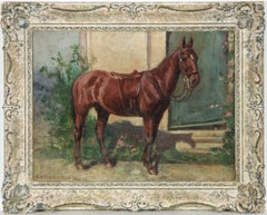 B.A St Clair Tisdall - Signed Mid 20th Century Oil, Study of a Chestnut Horse