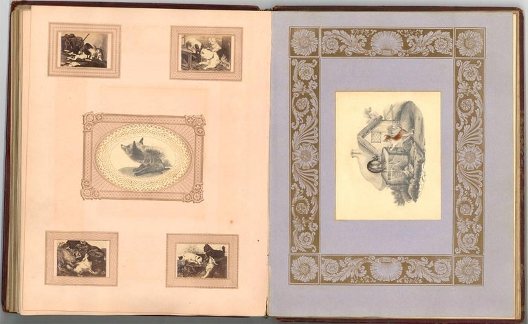 Embossed Leather 19th Century Sketchbook with Graphite Drawings and Watercolours For Sale 5