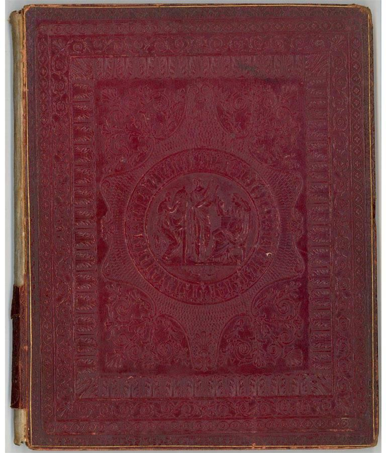 Embossed Leather 19th Century Sketchbook with Graphite Drawings and Watercolours For Sale 6