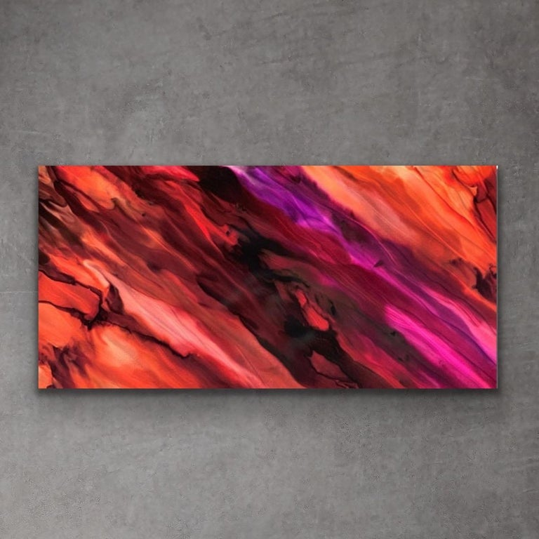 Large Modern Contemporary Abstract Giclee on Metal Wall Art Sculpture Decor  For Sale 3