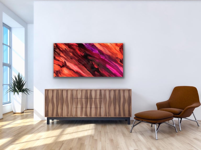 Large Modern Contemporary Abstract Giclee on Metal Wall Art Sculpture Decor  For Sale 1