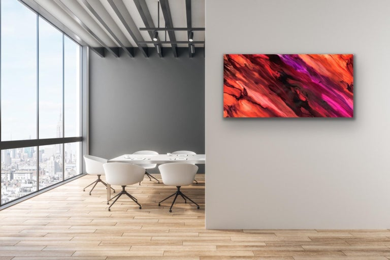 Large Modern Contemporary Abstract Giclee on Metal Wall Art Sculpture Decor  For Sale 2
