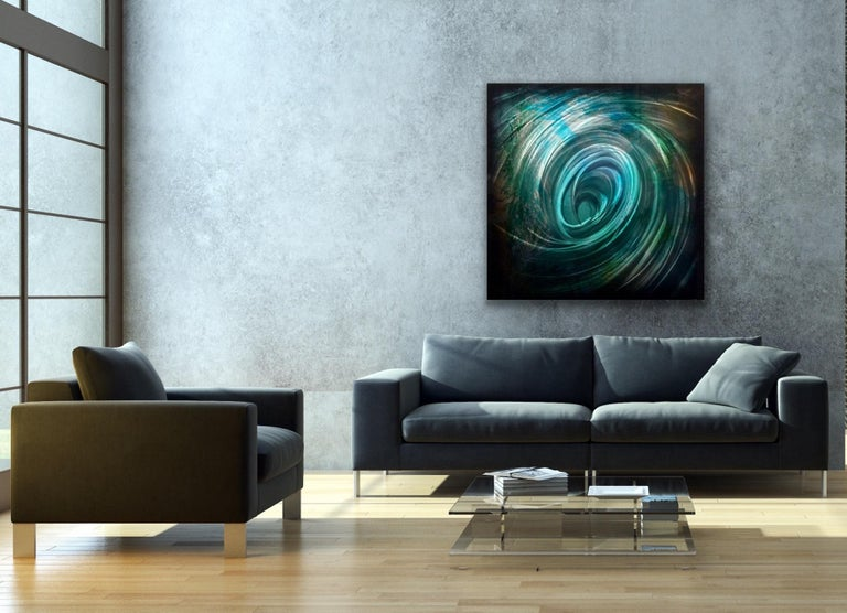 Large Metal Wall Art Painting Modern Contemporary Industrial Original Sculpture For Sale 3