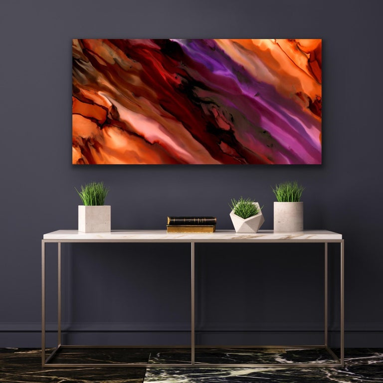 Large Modern Contemporary Abstract Giclee on Metal Wall Art Sculpture Decor  - Print by Sebastian Reiter