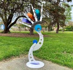 Indoor Outdoor Modern Metal Yard Garden Art Industrial Sculpture Contemporary