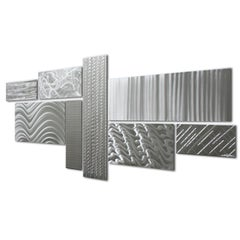 Nicholas Yust Contemporary Industrial Modern Metal Hanging Wall Sculpture Set
