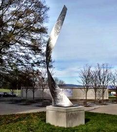 Nicholas Yust Industrial Modern Contemporary Metal Outdoor Standing Sculpture