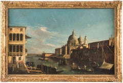 View of the Grand Canal towards the Basilica of S. Maria della Salute in Venice