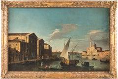 View of the Giudecca Canal towards the Island of S. Giorgio Maggiore in Venice