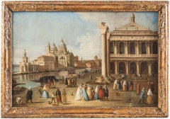 Johan Richter - View of St. Mark's Square in Venice - 18th Century Oil on canvas