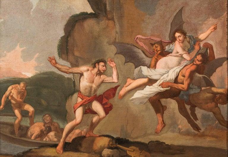Giulio Carpioni - Orpheus and Eurydice - 17th Century - Oil on canvas - Old Masters Painting by Giulio Carpioni