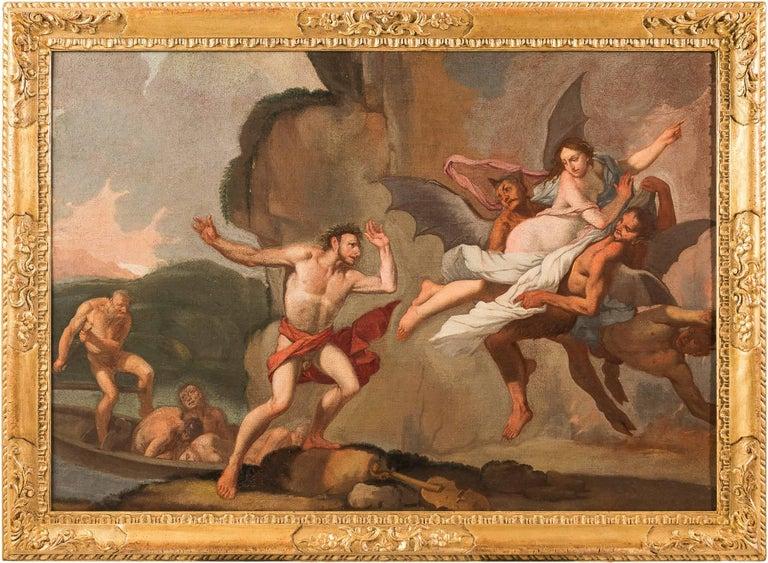 Giulio Carpioni - Orpheus and Eurydice - 17th Century - Oil on canvas - Painting by Giulio Carpioni